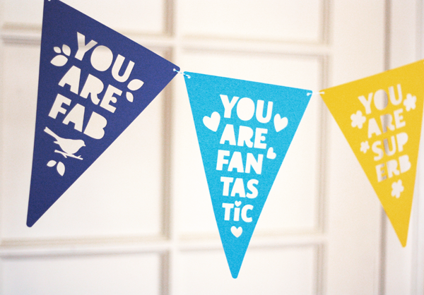 Printable Paper Craft Compliment Banner