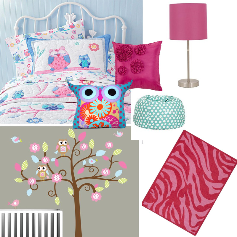 Girls Owl Room Decor