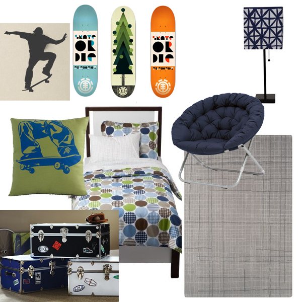Boys Skateboard Theme Room Design