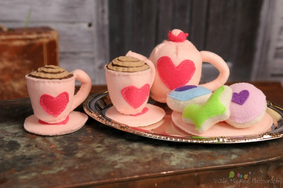 Eco Friendly Felt Tea Set