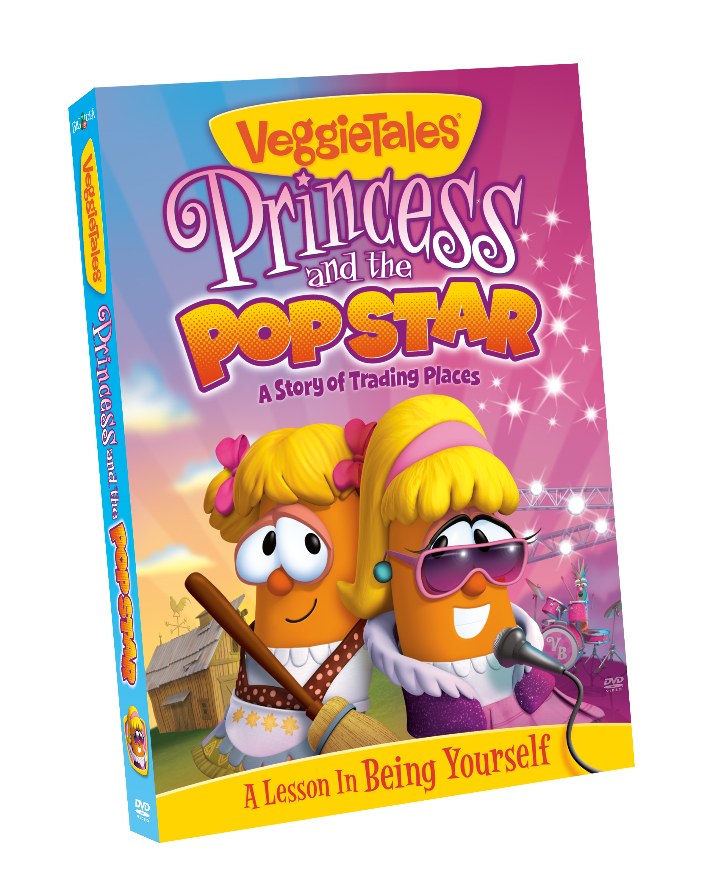 VeggieTales Princess and the Popstar DVD Cover