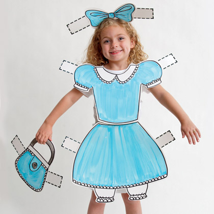 DIY Paper Doll Halloween Costume