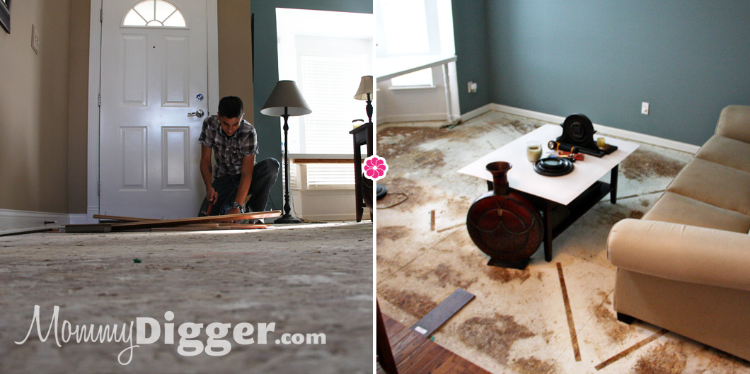 Pergo XP Installation Process - Old Flooring is Gone!