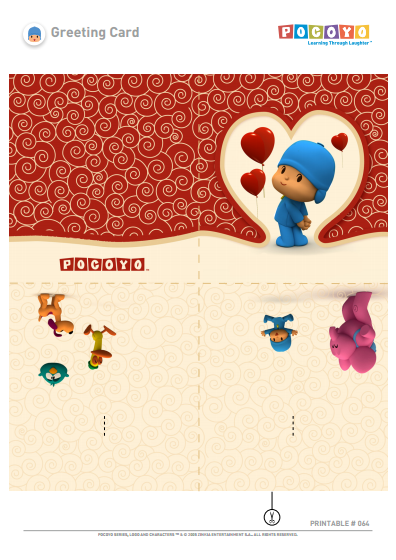 Pocoyo Valentine's Day Card