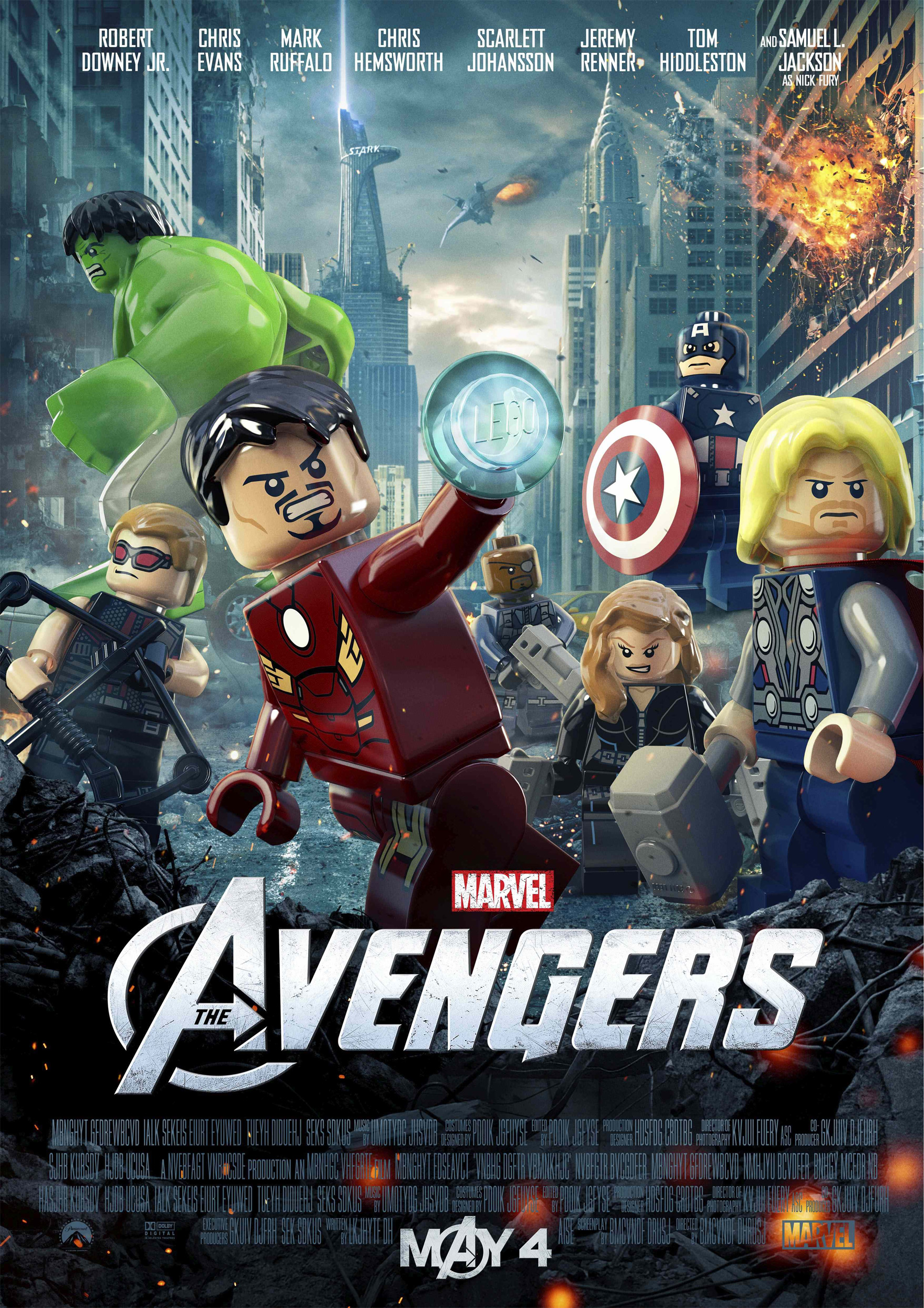 Marvels The Avengers LEGO Poster