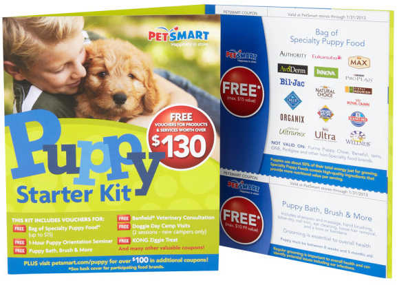 PetSmart Puppy Starter Kit - over $130 in coupons!