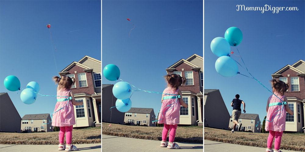See Kylie Fly a Kite, See Daddy Chase the Kite