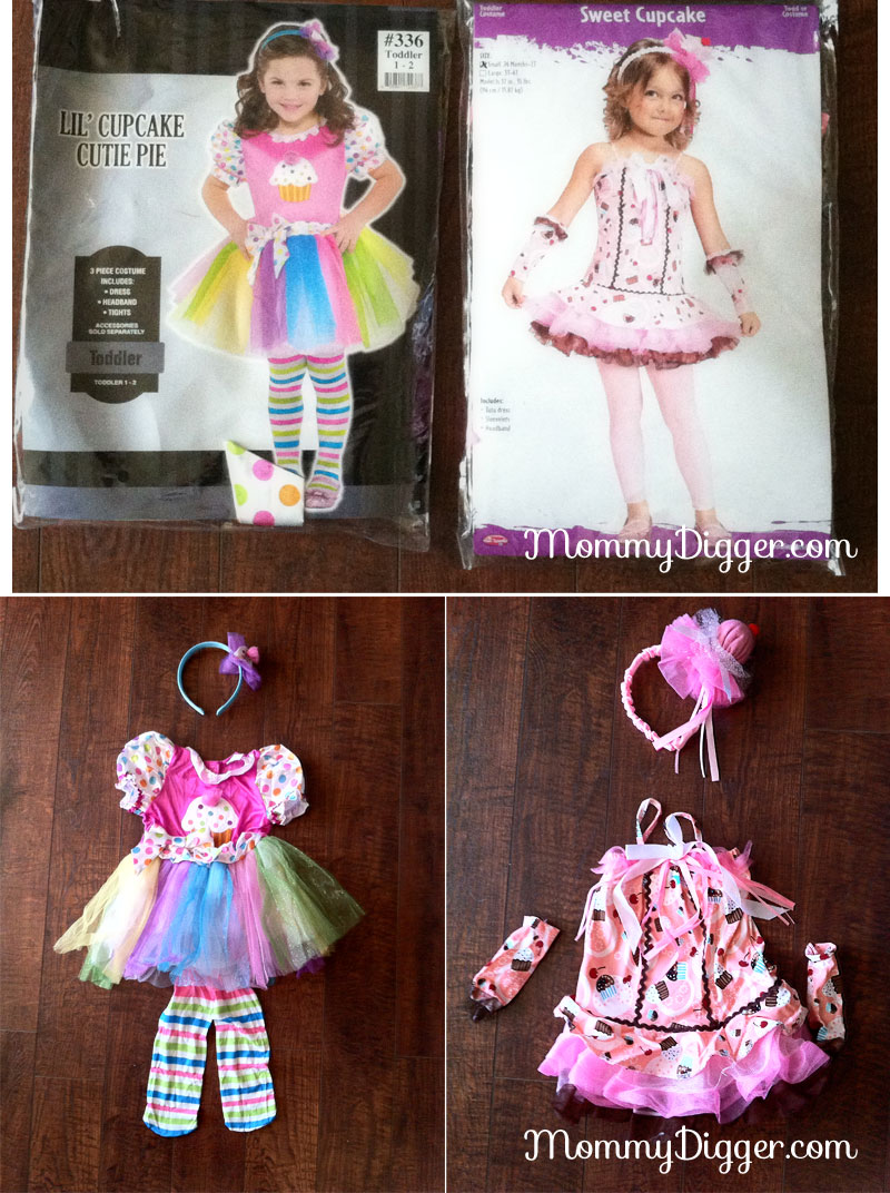 Cupcake Cutie Party City Costume USA comparison