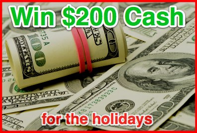 200 Holiday Cash Giveaway