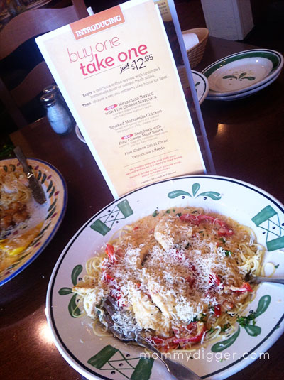 Olive Garden S Buy One Get One Menu And 75 Gift Card Giveaway Mommy Digger