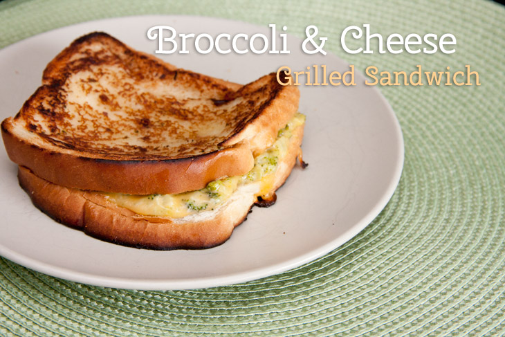 Brocolli and Cheese Grilled Cheese Sandwich Recipe