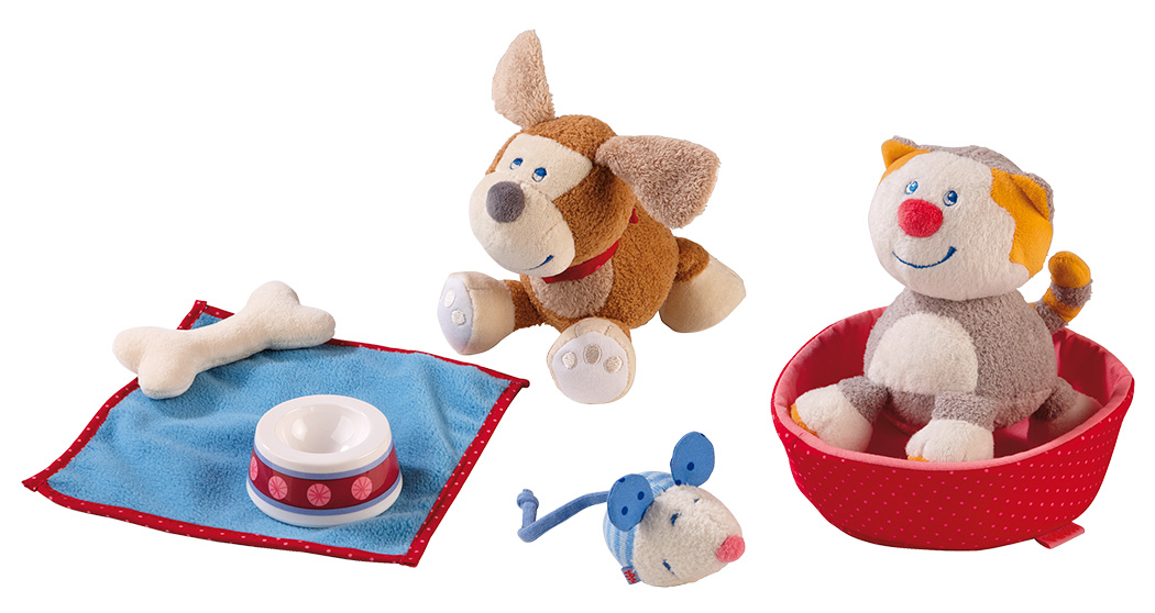 HABA Lucy Cat or Leo Dog Play Sets